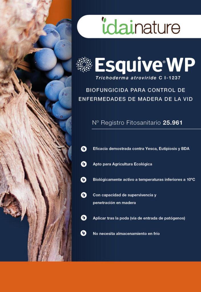 Biofungicida para control de las enfermedades de la madera de la vid